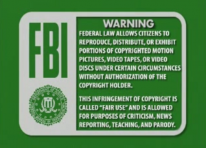 A remix of the FBI copyright warning
